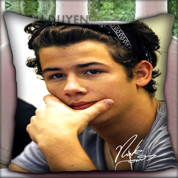 Nick Jonas - Pillow Cover Pillow Case and Decorated Pillow.