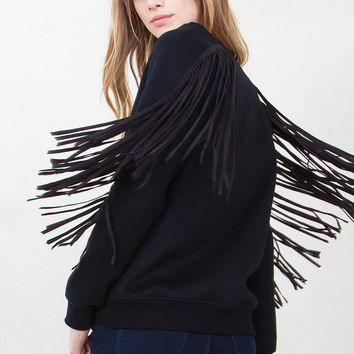 Sugarlips - Midnight Cowboy Fringe Sweatshirt