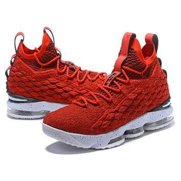 NIke James Fashion Casual Running High Tops Contrast Sports shoes Red G-CSXY