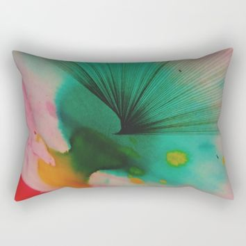 Watercolors and Ink Rectangular Pillow by Ducky B