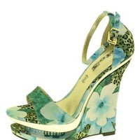 1 to 3 Floral Print Wedges - Women's Shoes Collection - Modnique.com