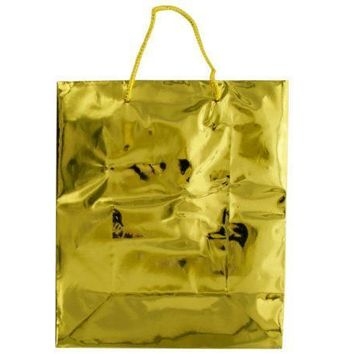 Medium Shiny Gold Gift Bag Set Of 30 Pack