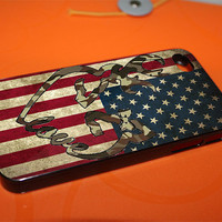 Brony Deer American Flag Stripe for iPhone 4, iPhone 5, Samsung Galaxy S3, Samsung Galaxy S4, iPod 4 and iPod 5 Cases
