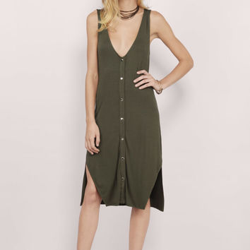 Camari Hooded Midi Dress