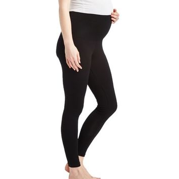 Popular Basics Maternity Popular Basics Black Over-Belly Maternity Leggings