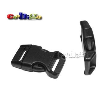 "Plastic 5/8"" Side Release Buckles Black Paracord Bracelet Parachute 550 Outdoor Backpack Dog Collar Strap Bag Parts #FLC103-B"