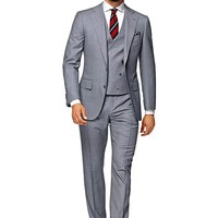 Suit Light Blue Plain Lazio P3880i | Suitsupply Online Store