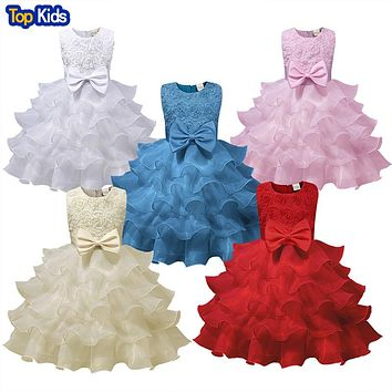Flower Girl Dress For Wedding Baby Girl Birthday Outfits Children Girl Kids Party Wear