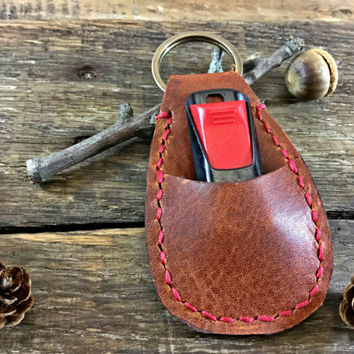 Personalized Leather Keychain,  Hand Stamped, Personalized Custom Leather Keychain