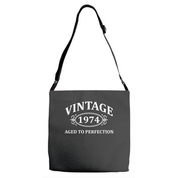 Vintage 1974 Aged to Perfection Adjustable Strap Totes