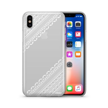 Ridge Lace - Clear TPU Case Cover