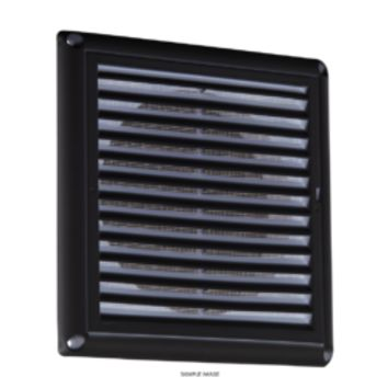 "KB EX0010B 150MM/6"" EXTRACTOR FAN GRILLE WITH FLY SCREEN - BLACK"