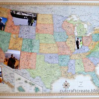 Cut, Craft, Create: Personalized Photo Map {for our Paper Anniversary}