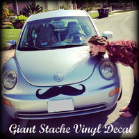 Giant Car Mustache Vinyl Decal - The Handlebar