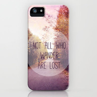 not all who wander are lost iPhone Case- iphone3,4,5  by Sylvia Cook Photography