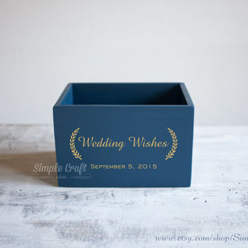 Wedding Wishes Gold Advice for the new mommy bridal shower invitations cards box bridal shower gift invitation card box wedding wishes box