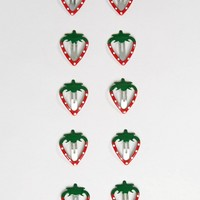 Limited Edition Pack of 10 Strawberry Hair Clips at asos.com