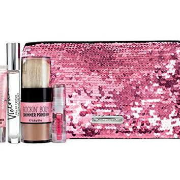 Victoria's Secret Victoria Perfume Bling Sequins Bag Gift Set Eau De Parfume Rollerball Lip Gloss Hair Serum and Body Shimmer