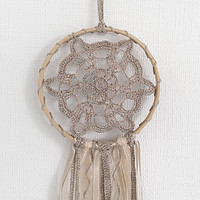 Beige Doily Dream Catcher, Handmade Dream Catcher,  Lace dreamcatcher, Heavenly dream, unique design, handmade