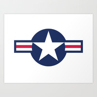 US Air force Roundel insignia Art Print by Bruce Stanfield