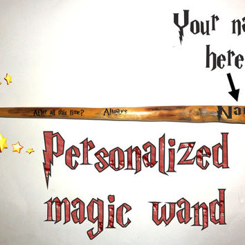 Personalized Name Custom Magic Wand. After all this time? Always Magic wand. Name magic wand.Harry Potter Hermione Natural fairy wizard wand