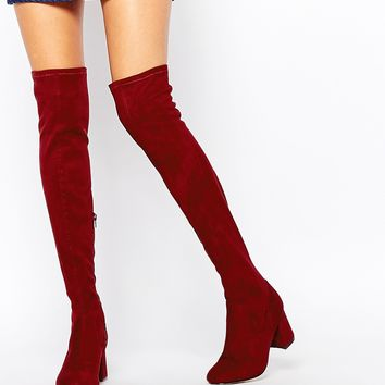 New Look 60s Block Heeled Over The Knee Boot