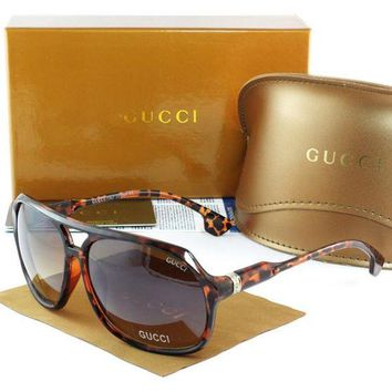 Gucci Stylish Women Men Casual Sun Shades Eyeglasses Glasses Print Frame I