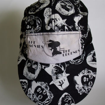 Vintage 1990 Movie Legends Universal Studios Florida 5 Panel Hat