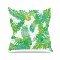 "Draper ""Tropic Summer"" Green Nature Throw Pillow"