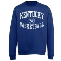 Kentucky Wildcats Reversal Basketball Crew Sweatshirt - Royal Blue