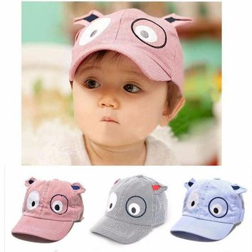 Hat 2016 Kids Boys Girls Cute Cartoon Dog Hat Sun Hat Baseball Cap Baby Photography Props Baby Bonnet Kids Hats Bonnet Enfant