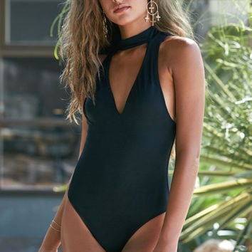 LA Hearts Choker Cutout One Piece Swimsuit at PacSun.com