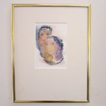 Mari Devers Watercolor Contemporary Portrait Huly Family