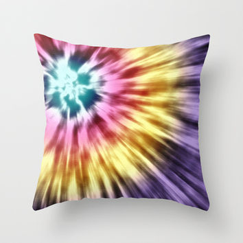 Abstract Purple Tie Dye Throw Pillow by Phil Perkins