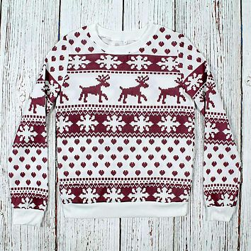Lightweight Fleece Lined Christmas Sweatshirt by Preppy Elves