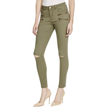 Noisy May Womens Destroyed Slim Fit Colored Skinny Jeans