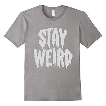 """Stay Weird"" Creepy Cute Pastel Goth Graphic T-Shirt 100% Cotton T-Shirts for Man Top Tee Men T Shirt Free Shipping Plus Size"