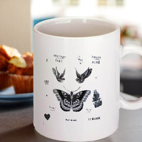 harry style one direction tattoo collage mug coffee tea milk sereal and all drink spirits.