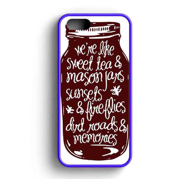 Like Sweet Tea And Mason Jars iPhone Case For iPhone SE, 5s, 5c, 4