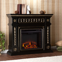 Donovan Electric Fireplace, Black