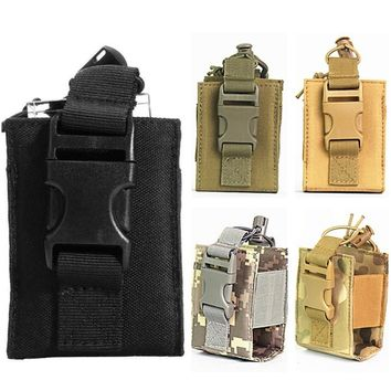 CQC Military Tactical Radio Pouch Holster Molle Walkie Talkie Holder Airsoft Paintball Outdoor Hunting Mag Bag