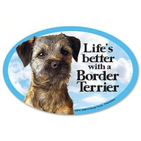 Prismatix Decal Cat and Dog Magnets, Border Terrier