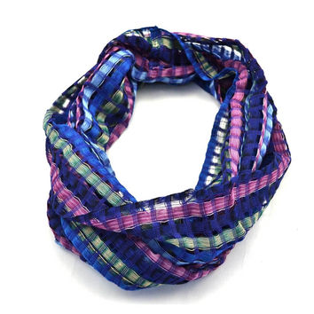 Infinity Woven Blue Scarf