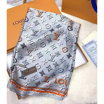 "Hot Sale ""Louis Vuitton"" Fashionable Women LV Smooth Silk Cashmere Cape Scarf Scarves Shawl Accessories"