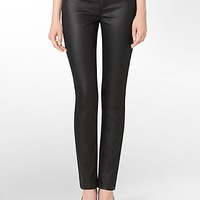 powerstretch coated black wash denim leggings | Calvin Klein
