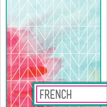 Back to School! Watercolor Binder Dividers - French Class