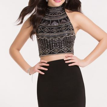 Alyce 4483 Two Piece Dress with a Halter Top