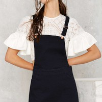 Overall of It Denim Dress