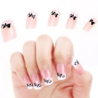 Acrylic False French Full Nail Art Tips - Default