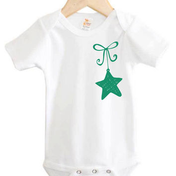 Christmas Onesuit // Star Oranament Onesuit // Baby Christmas clothing // holiday baby clothing